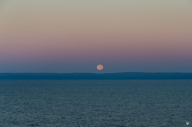 Moonset over Saint Lawrence River (photo (c) Esther Wagner)