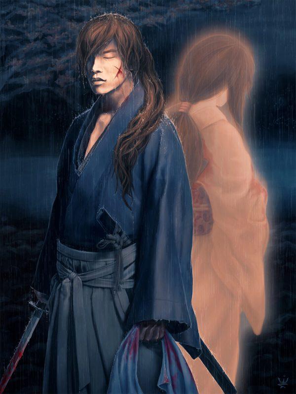 50 Themes Challenge, Anime, Battosai, Battousai, Fanart, manga, Movies, Rurouni Kenshin