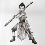 Inktober 2016 - 4: Rey (c) Esther Wagner