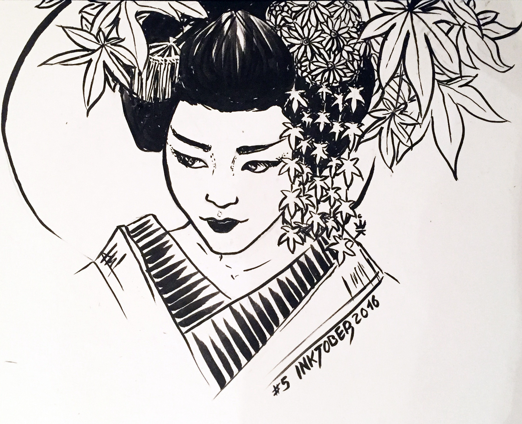 Inktober 2016 - 5: Maiko (c) Esther Wagner