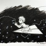Inktober 2016 - 12: Catching Fireflies (c) Esther Wagner