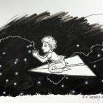Inktober 2016 - 12: Catching Fireflies (c) Esther Wagner