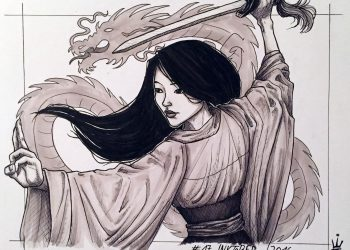 Inktober 2016 - 17: Mulan