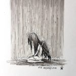 Inktober 2016 - 18: Heaven is weeping (c) Esther Wagner