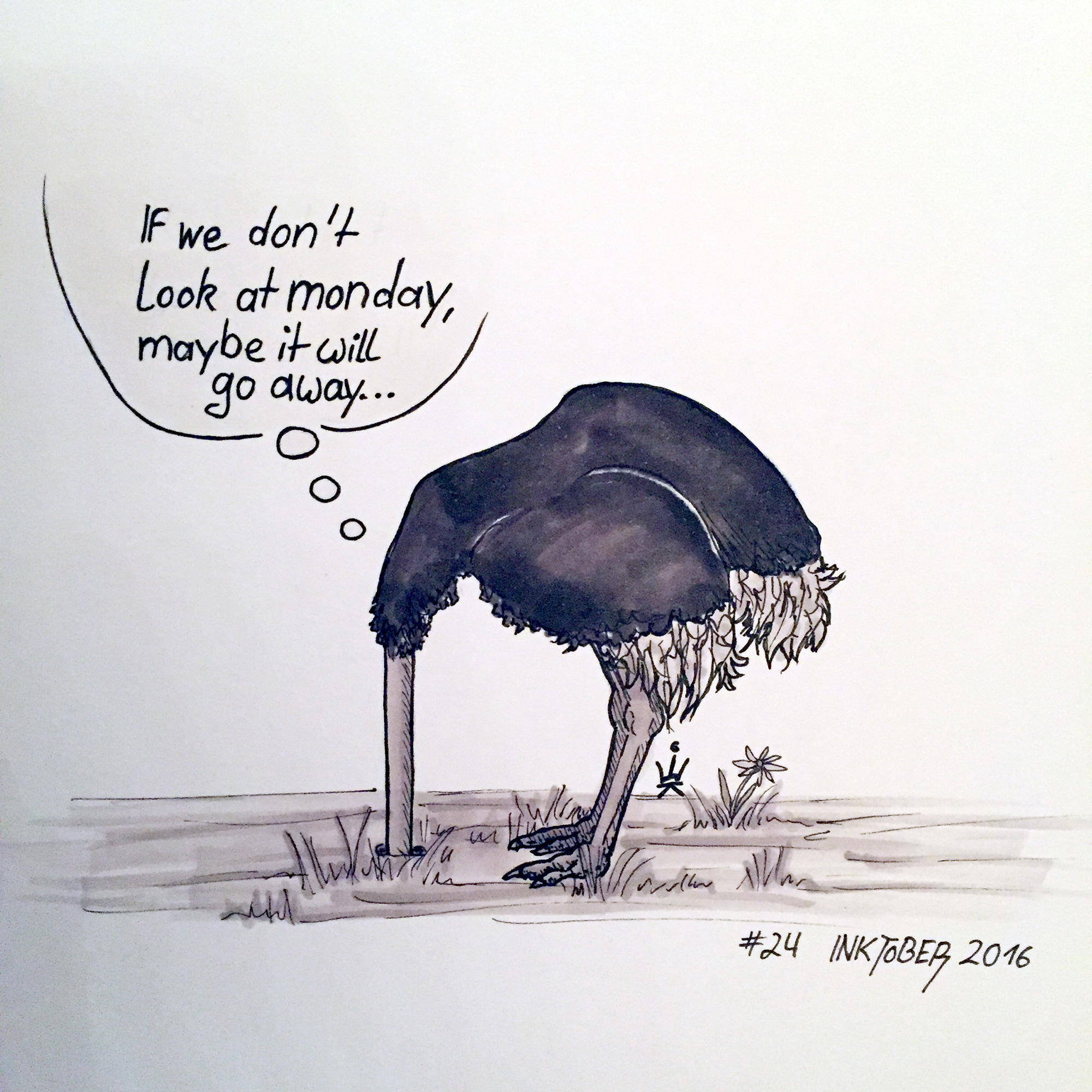 Inktober 2016 - 24: Don't look! (c) Esther Wagner