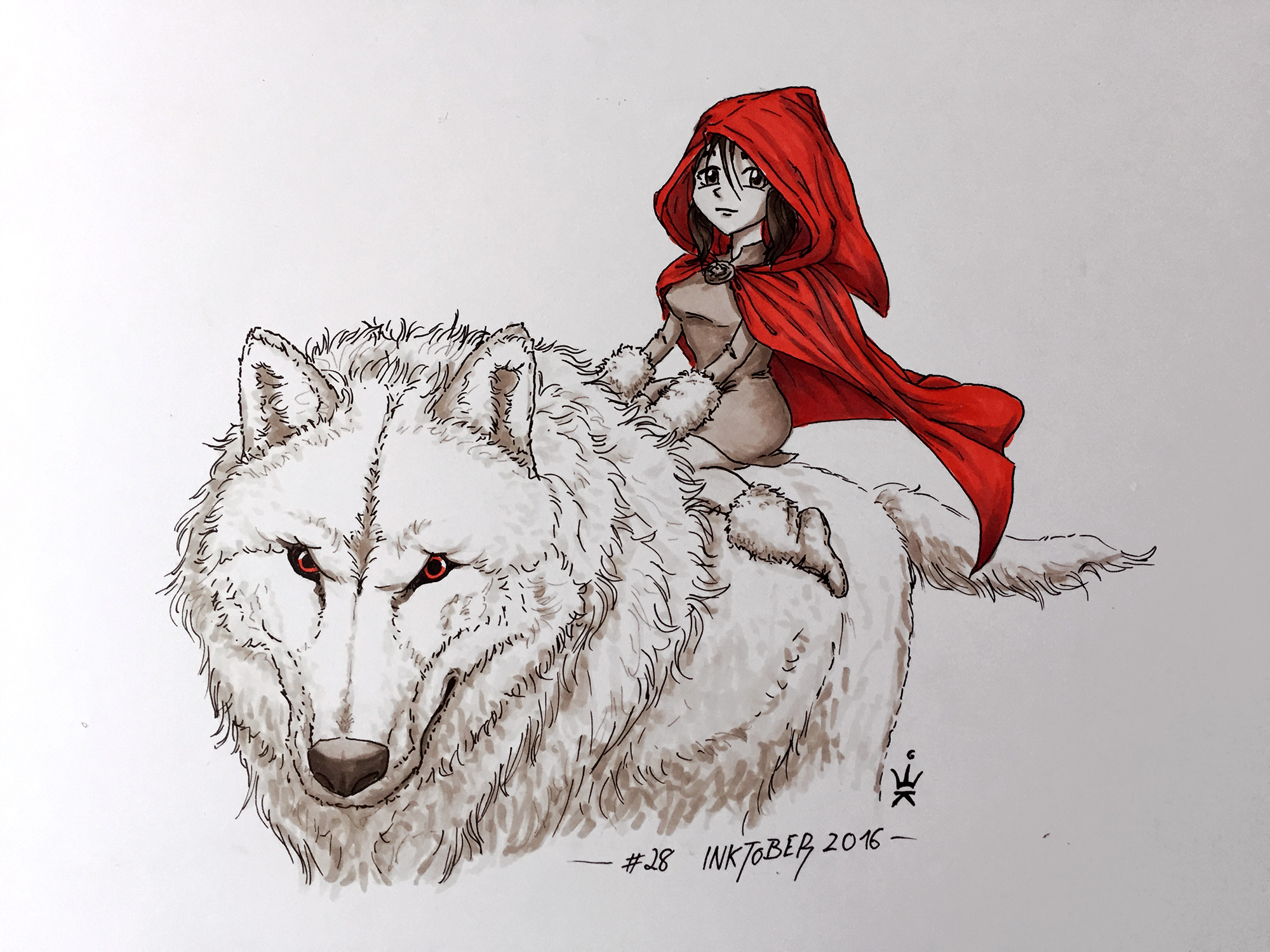 Inktober 28: Tamed (c) Esther Wagner