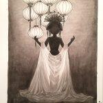 Inktober 29: Silk (c) Esther Wagner