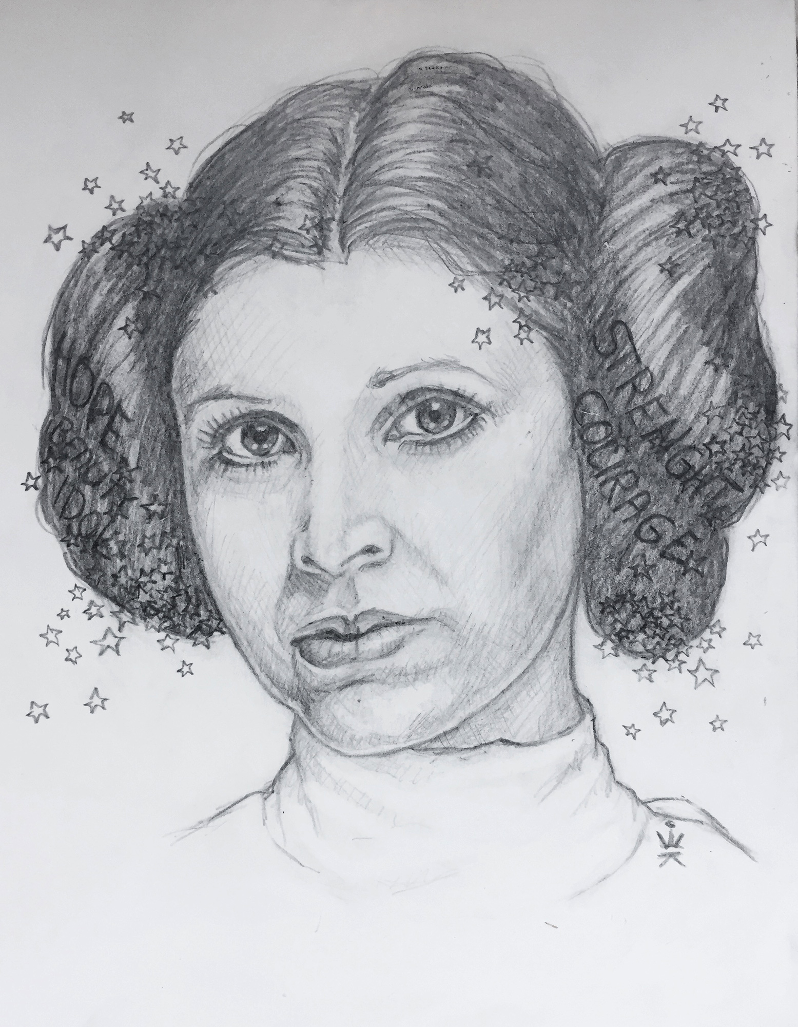 Princess Leia - Tribute to Carrie Fisher (by Esther Wagner)