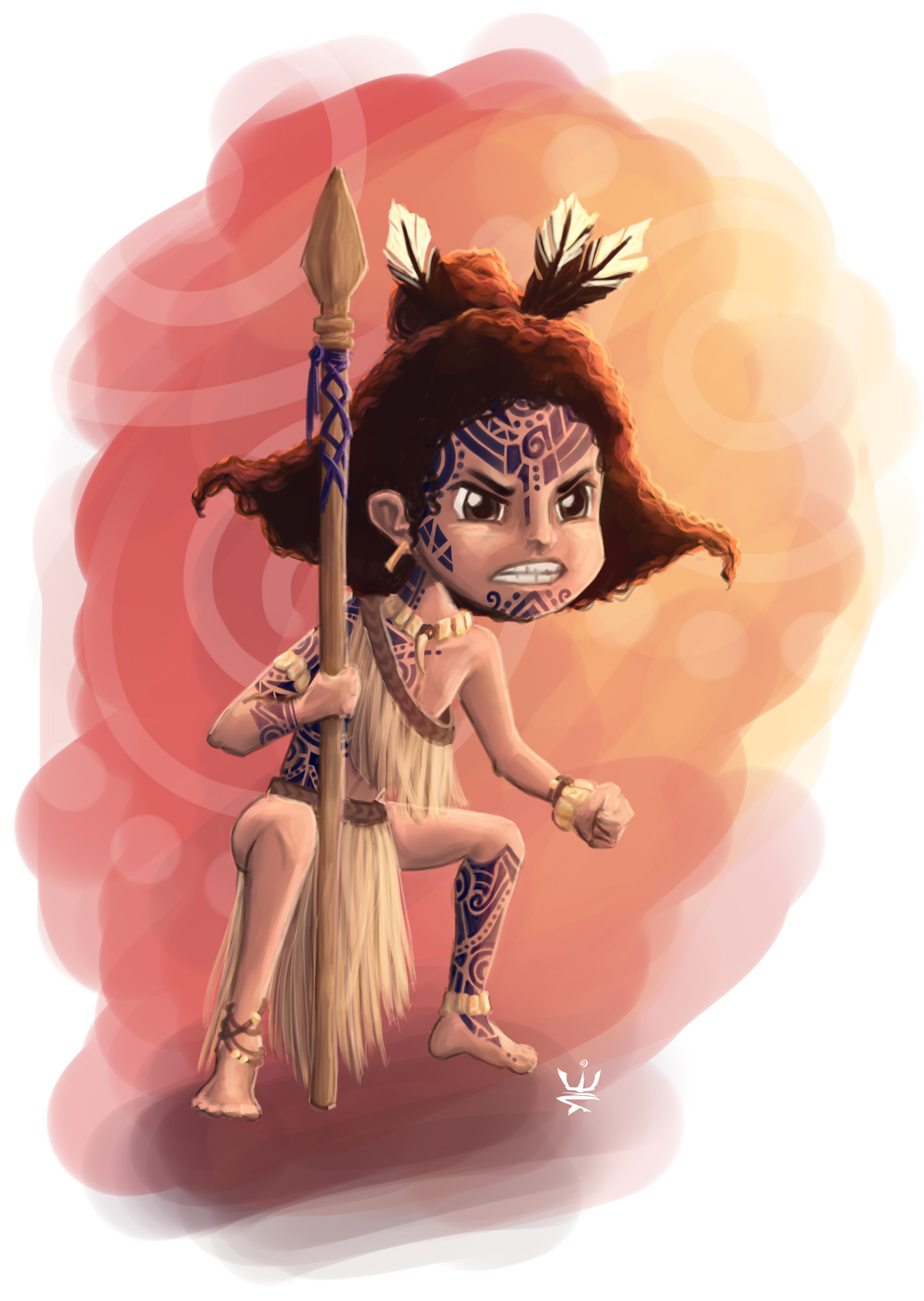 Little Maori Warrior (c) Esther Wagner